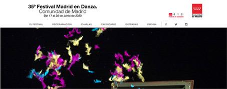 Diseño Web Madrid en danza 2020