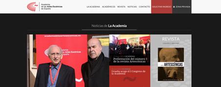 Diseño Web para la Academia de las Artes Escénicas