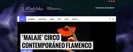 Diseño Web para Albadulake, compañía de teatro de Madrid