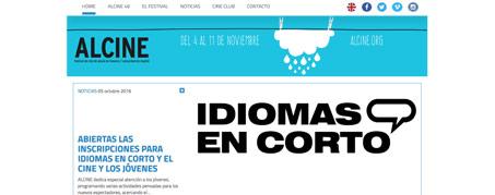 Diseño Web para Festival Alcine en Alcalá de Henares