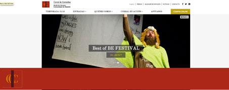 Diseño Web para Corral de Comedias de Alcalá de Henare