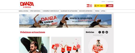 Diseño Web para Festival Danza a Escena de Madrid