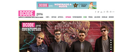 Diseño Web para Festival Dcode de Madrid