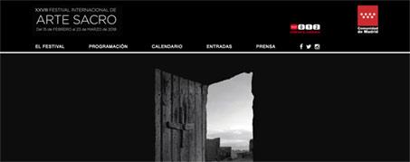 Diseño Web para Festival de Arte Sacro de Madrid