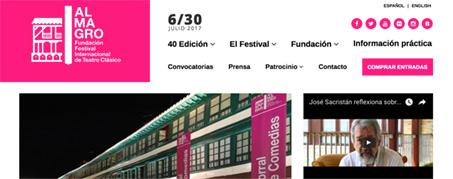Diseño Web para El Festival de Teatro Clásico de Almagro