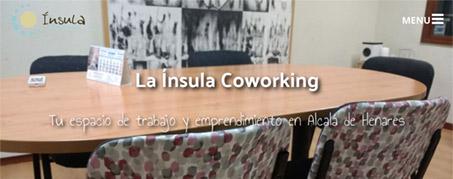 Diseño Web para Ínsula Coworking en Alcalá de Henares