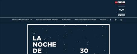 Diseño Web para La Noche de los Teatros de Madrid