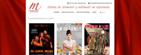 Diseño Web para Manuel Álvarez Producciones