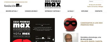 Diseño Web para Priemios Max