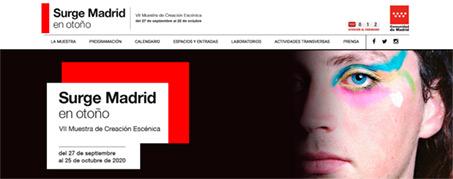 Diseño Web para El Festival Surge en Madrid