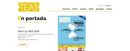 Diseño Web para TEA3, Valencia