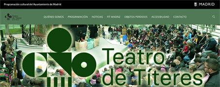 Diseño Web para Teatro de Títeres de El Retiro en Madrid
