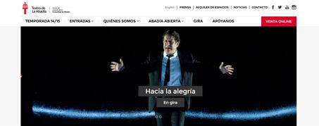 Diseño Web para Teatro Abadía de Madrid