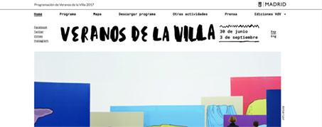 Diseño Web para Veranos de la Villa de Madrid
