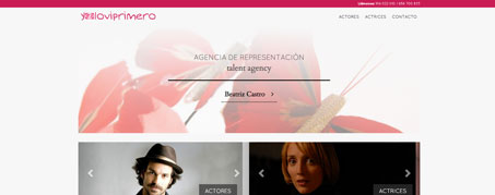Diseño Web para Yoloviprimero, agencia de representación en Madrid