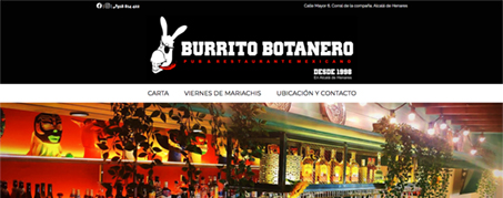 Diseño Web para Restaurante Burrito botanero en Alcalá de Henares