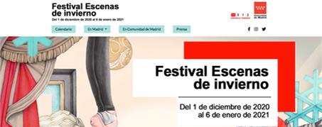 Diseño Web para el Festival de Escenas de Invierno de Madrid