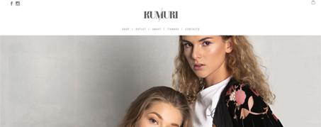 Diseño Web para Kumuri tienda online de ropa