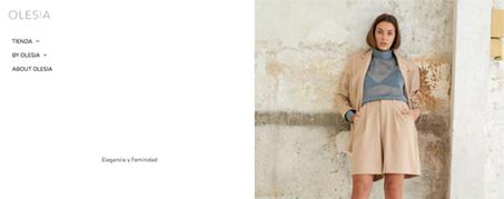 Diseño Web para Olesia tienda online de ropa