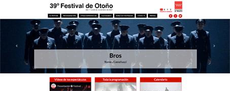 Diseño Web para el Festival de Otoño en Madrid