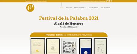 Diseño Web para Festival de la Palabra de Alcalá de Henares