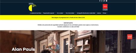 Diseño Web para La Noche de los Libros en Madrid
